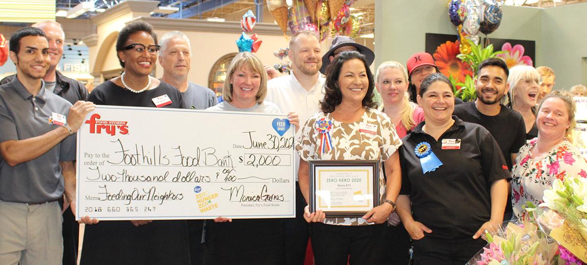 Frys Food Zero Hero Award for Food Bank Donation