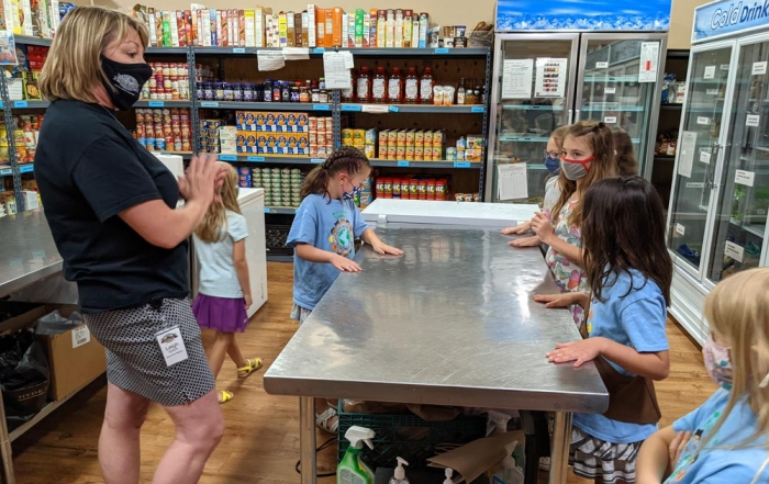 Girl Scouts at the Foothills Food Bank