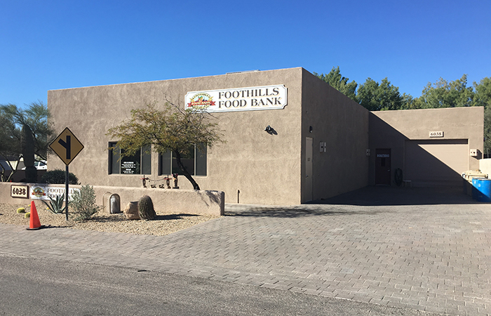 foothills food bank building cave creek