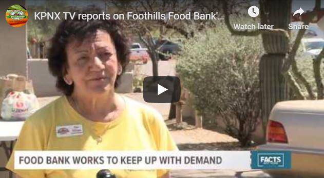 foothills food bank on TV