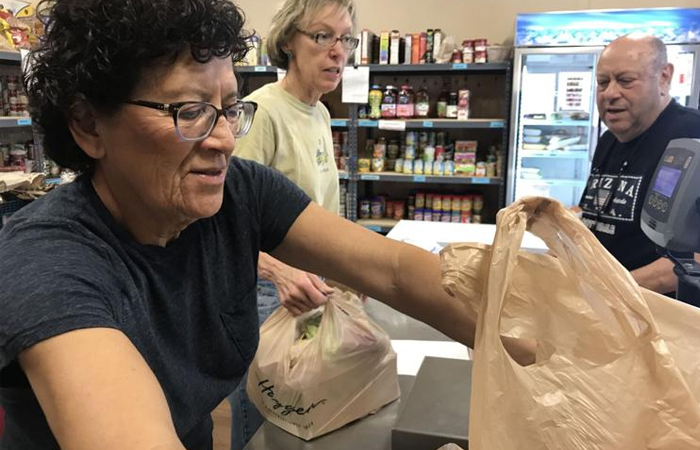 pam dipietro at the foothills food bank