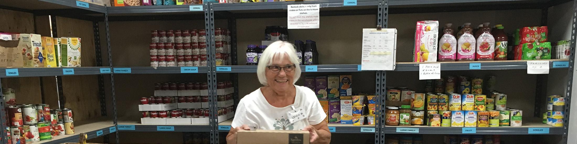 volunteer at foothills food bank