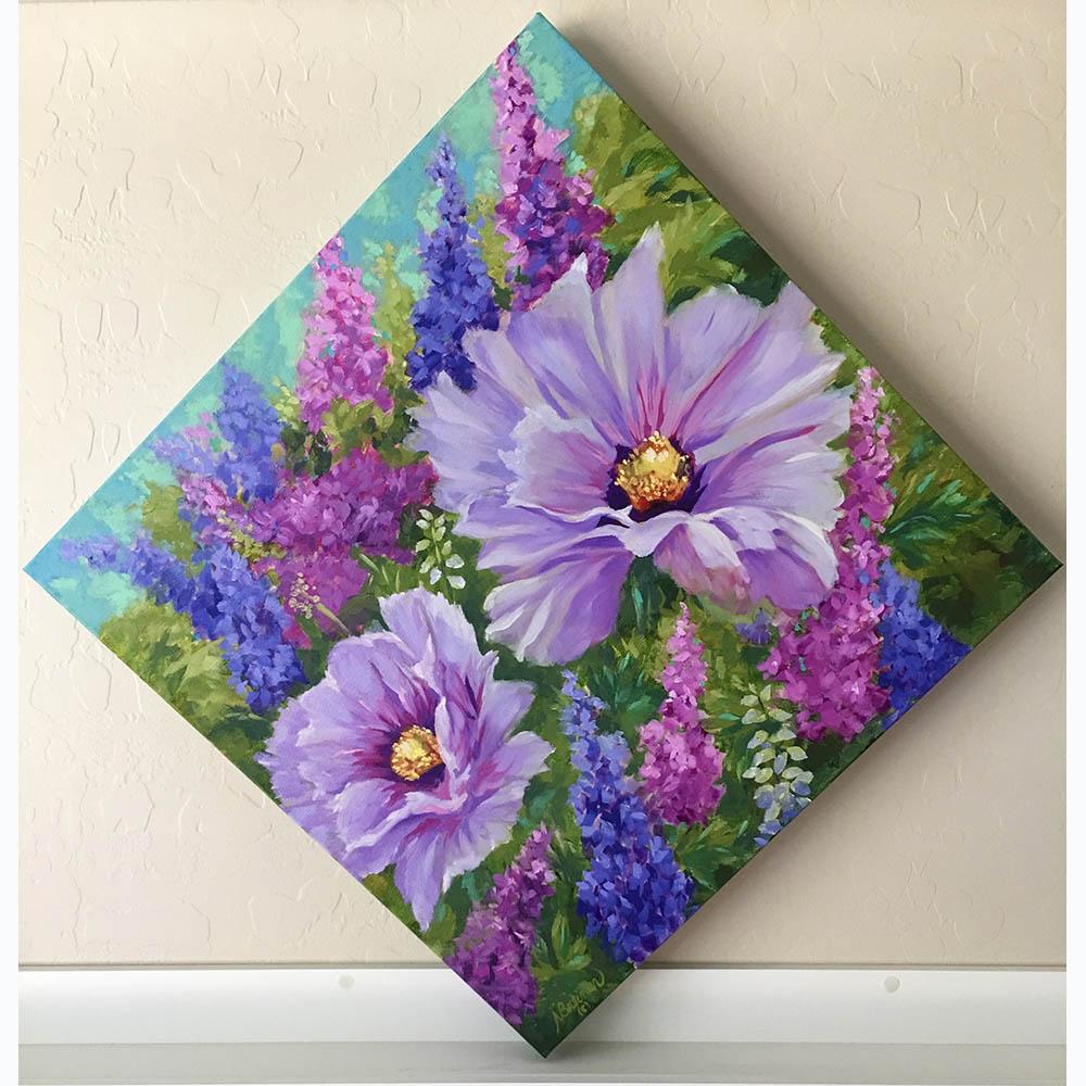 Nancy Breiman-lavender poppies-frontview