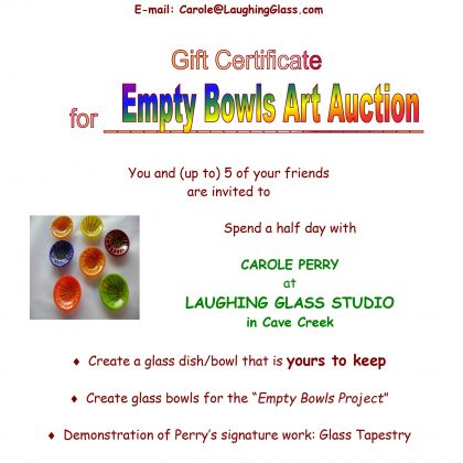 """""""Create a Glass Bowl"""" Gift Certificate"""