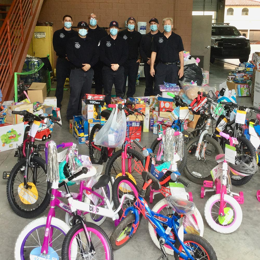 firefighter food drive adopt a family