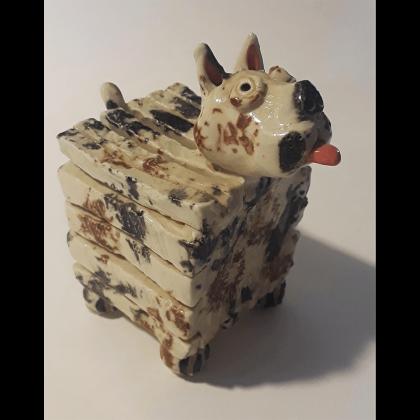 clay box dog