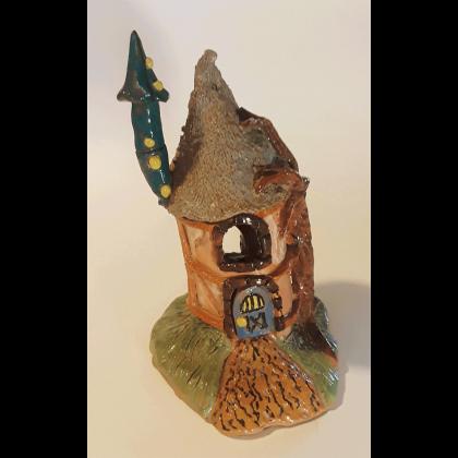 gnome home blue door