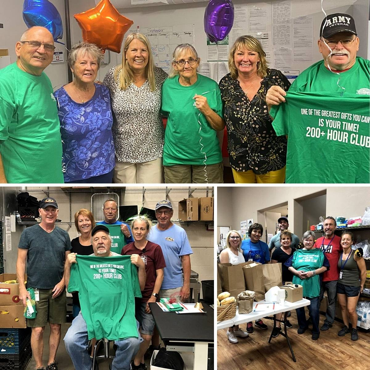 volunteers from the food bank